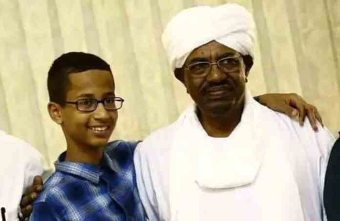 Clock boy with the genocidal maniac, the Butcher of Sudan