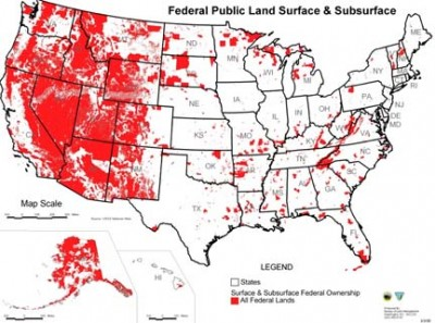 Federal land map