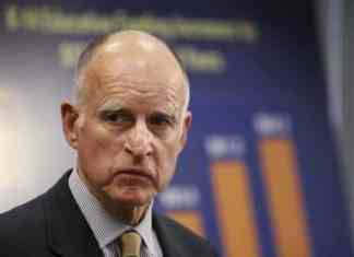 Jerry Moonbeam Brown looking pensive as his economy nosedives.