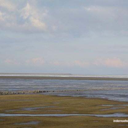 10 km Damm durchs Wattenmeer
