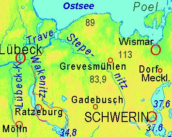 Die 89 markiert etwa den Kluetzer Winkel. Credit Karte: Ulamm http://www.maps-for-free.html