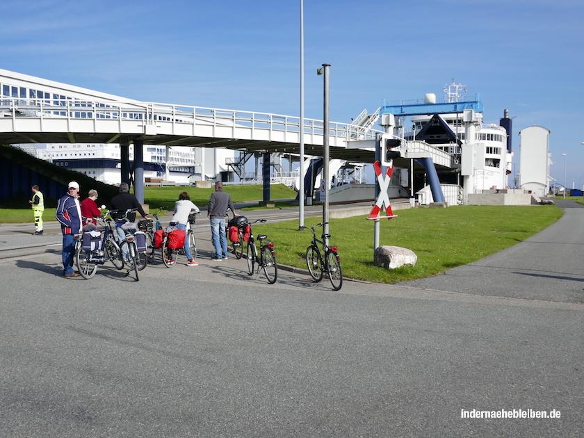 Radfahrer Puttgarden