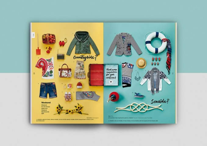 The Best Catalogue Designs   Get Inspired Now     catalogue booklet lookbook design layout inspiration marketing desigual catalogue  catalog spring summer fashion