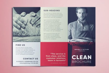 Amazing Clean Trifold Brochure Template   Free Download Clean Brochure Template   Free Template Download for InDesign