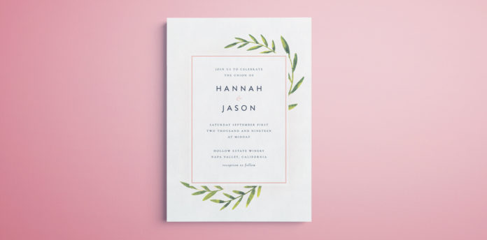 Indesign Wedding Invitation Template Free Printable For Modern Watercolour Design With Editable Text