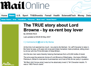 Lord Browne - Daily Mail