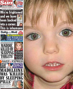 The Sun Maddie killed by sleeping pills cover