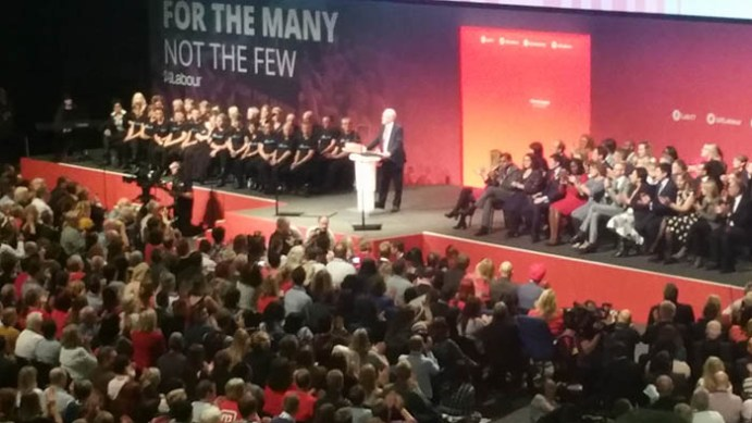 Image result for labour conference corbyn crowd