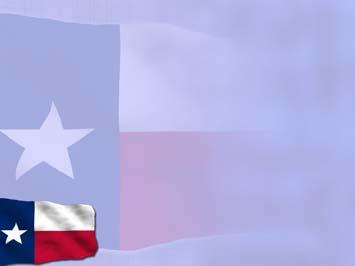 Texas Flag 01 Powerpoint Template
