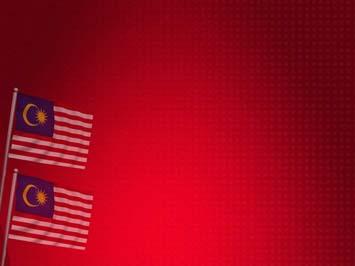 Malaysia Flag 02 Powerpoint Template