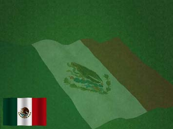 Mexico Flag 01 PowerPoint Template