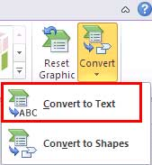 Convert SmartArt to Text