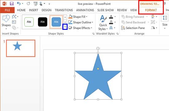 Image result for POWER POINT 2013 Contextual Tabs