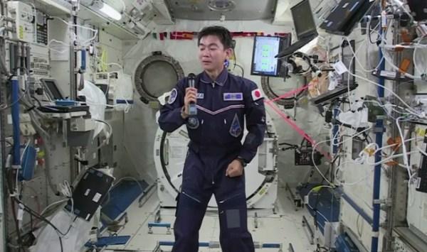 International Space Station crew member talks to Japanese ...