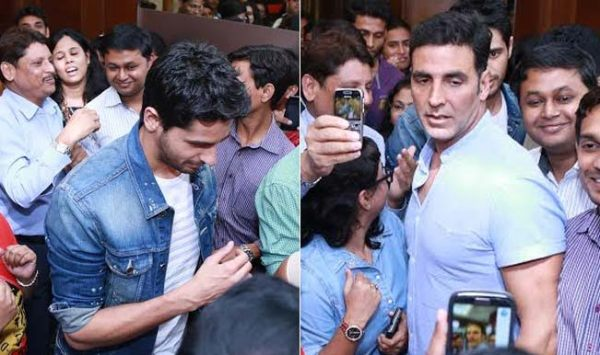 Brothers: Akshay Kumar and Sidharth Malhotra mobbed by ...