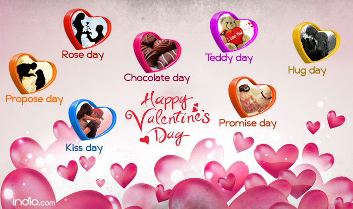 Valentine Week List 2017 Rose Day Propose Day Kiss Day