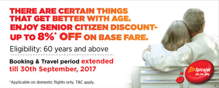 Spice Jet senior citizens