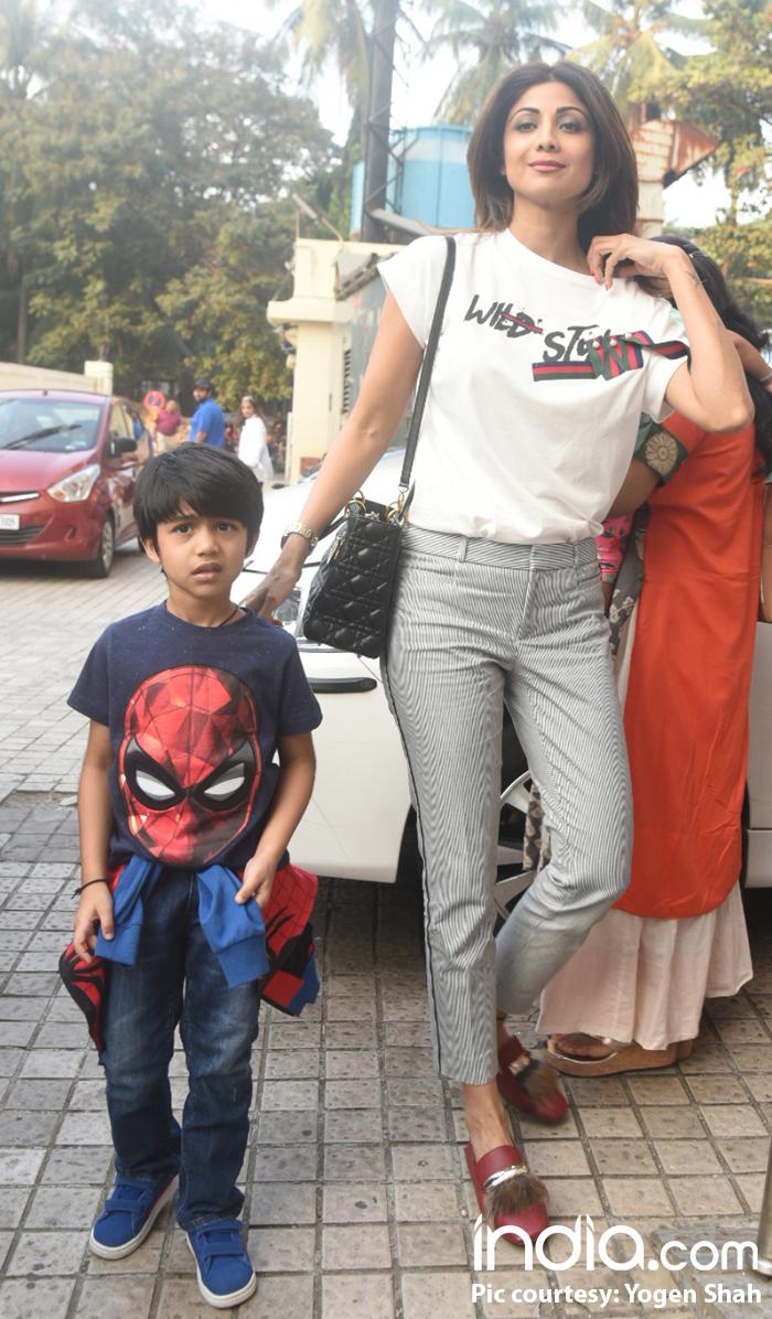 Shilpa Shetty with son, Viaan