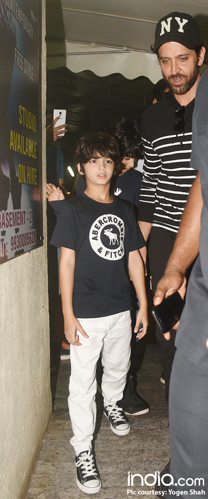 Hrithik Roshan with one of his sons