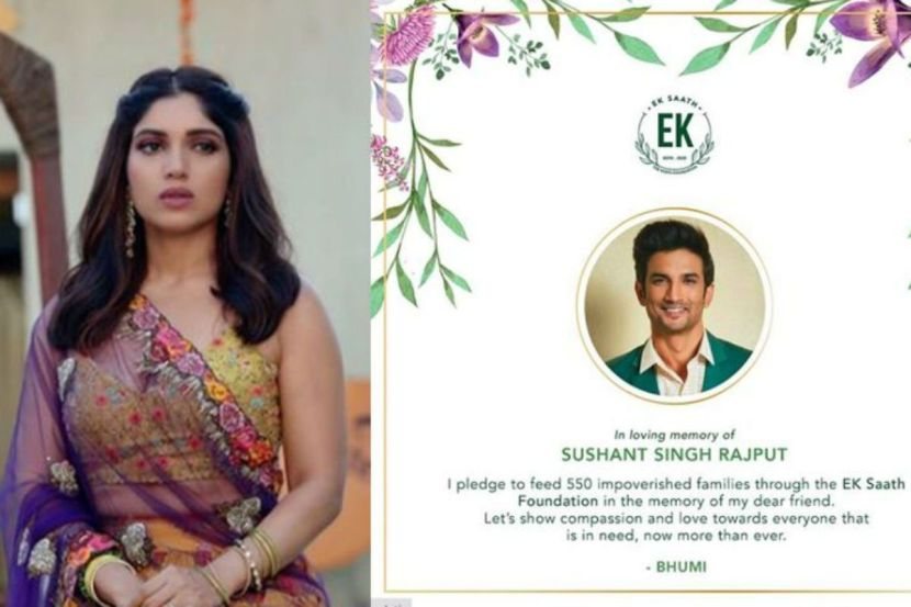 Sushant Singh Rajput's Death: Bhumi Pednekar Pledges to Feed 550 Impoverished Families in Loving Memory of Late Actor 1