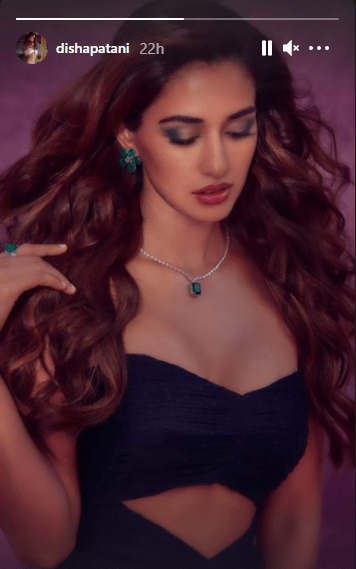 Disha Patani Sets The Temperature Soaring With Her Black Outfit