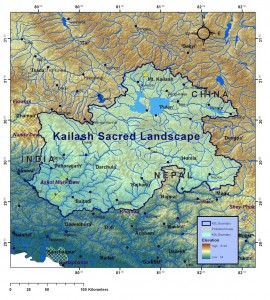 Map of the Kailash Sacred Landscape project area.