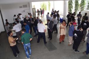 Participants having lunch at Developers tutorial in IIIT Hyderabad