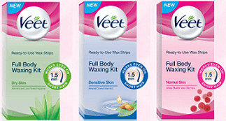 Veet Ready-to-use Wax Strips Free Sample