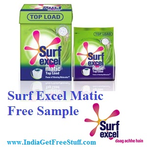 Surf Excel Matic Free Sample Offer | Win Surf Matic Top Load or Front Load Sample