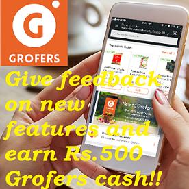 Earn Free Grofers Cash