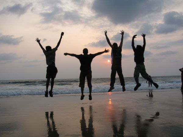 Celebrating life with sunset on beach - India Travel Forum ...