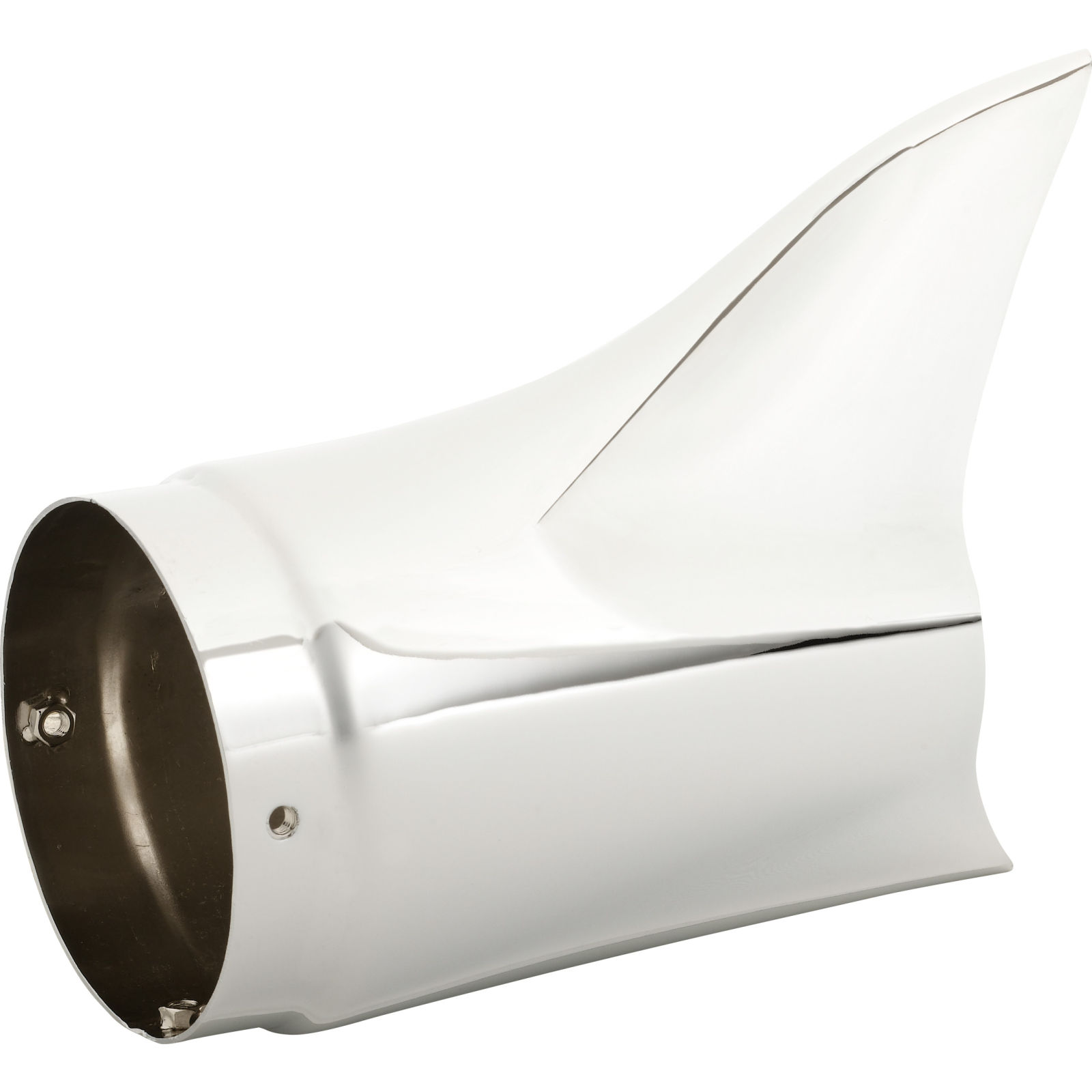 chrome shark tail motorcycle exhaust tips