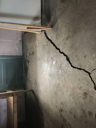 Triangle crack in concrete floor