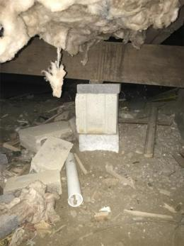 concrete and wood supports