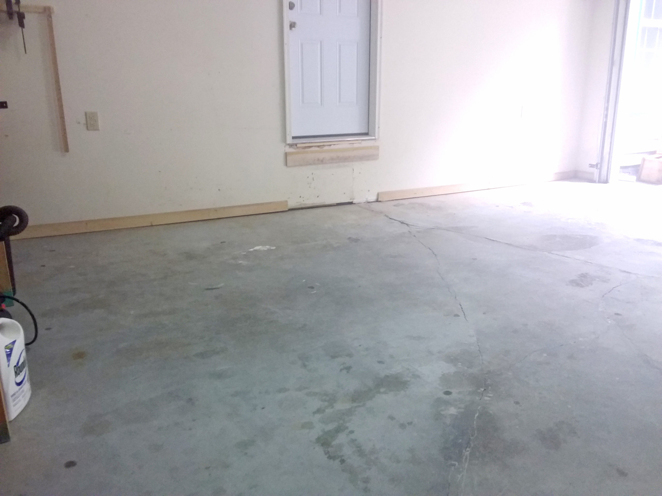 Concrete Leveling with Wall Gap after