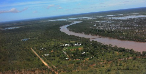 Flooded Fitzroy from the air!