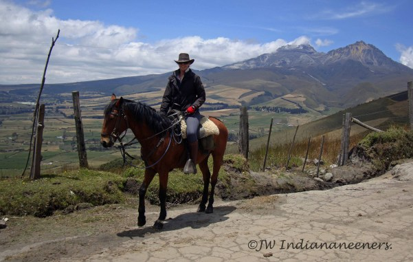 El Hiero....the first horse I rode in Ecuador. for two days we adventured around the pastoral lands near the village of Machachi with amazing views of Ilinizas, Corazon, Ruminahui and Cotopaxi.