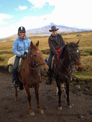 Riding Capule on the road to Cotopaxi National Park.