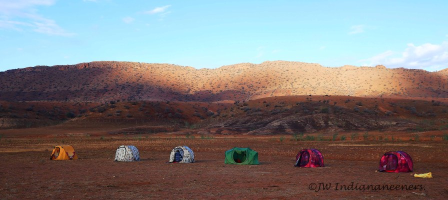 Another wonderful camp spot! A glorius morning after a spattering of night rain.
