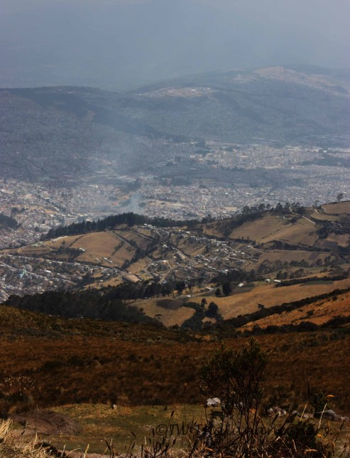 Best views of Quito are from above......the Teleferiqo