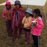 Some local Quechua children took a break from their herding duties to join us for lunch......not sure they knew what to make of our rendition of Old MacDonald!