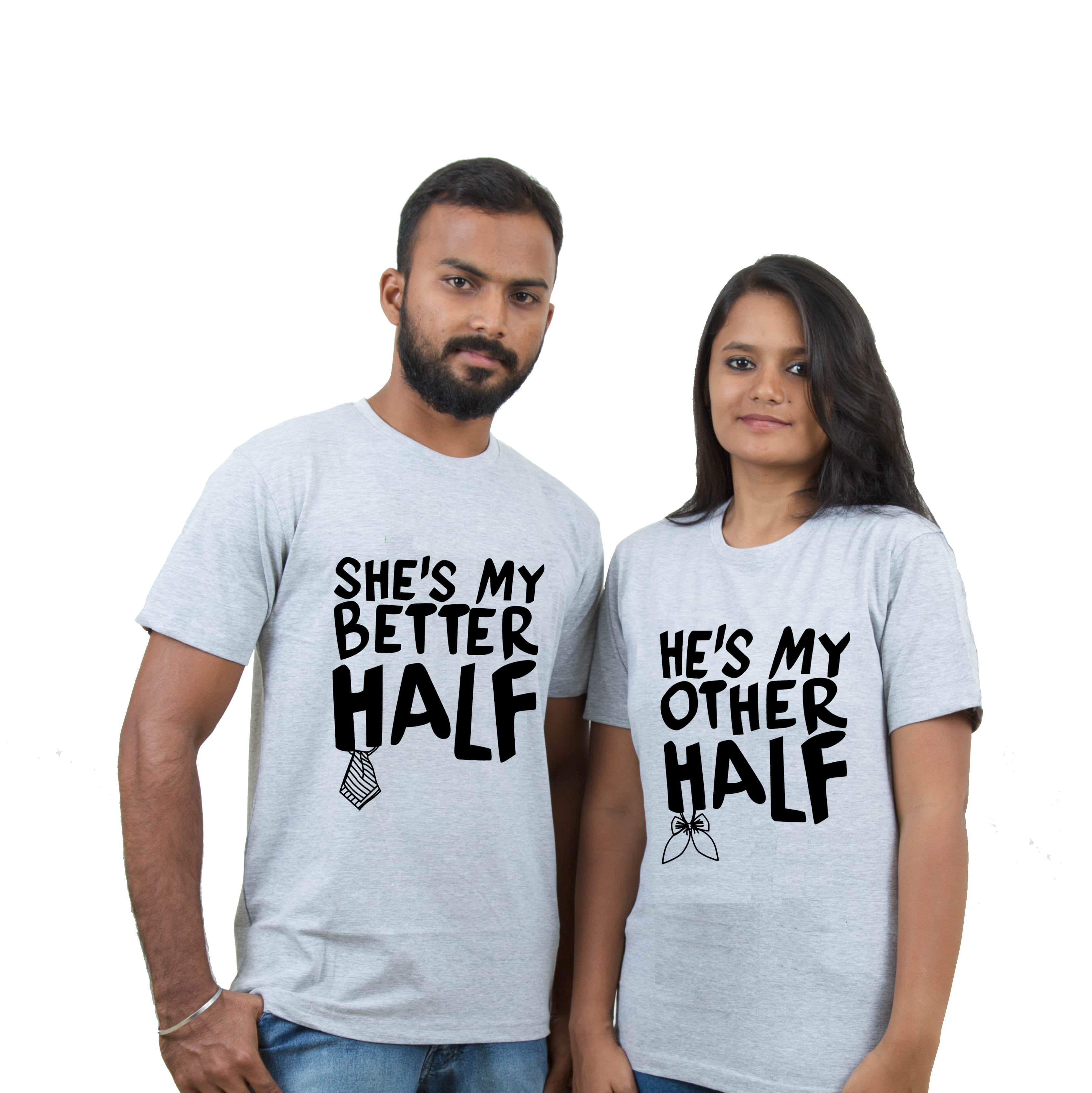 reputable site 7a82f e2216 Indian Aurochs He's & She's My Better Half Couple T-Shirts
