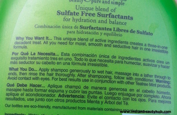 Organix Hydrating Tea Tree Mint Shampoo Review Indian