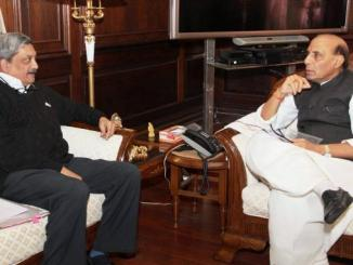 Manohar Parrikar meets the Union Home Minister-indianbureaucracy