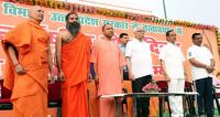 Mass practice session of Yoga organized in Lucknow