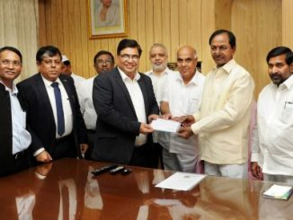 Chief Minister of Telangana hands over advance cheque to BHEL
