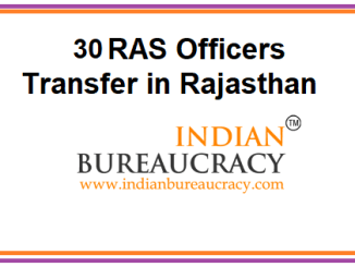 Rajasthan Government transfers 30 RAS Officers