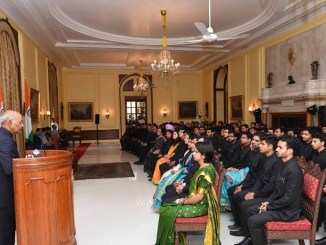 IAAS and CES Officer Trainees call on the President