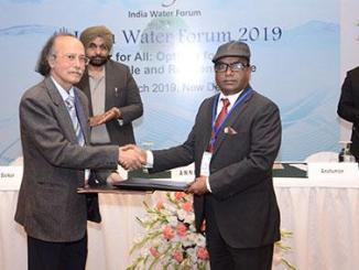 MoU signed on the side-lines of the 4th India Water Forum 2019