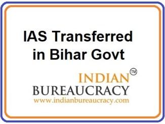Bihar IAS Transferred